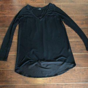 Very J Black long sleeves top
